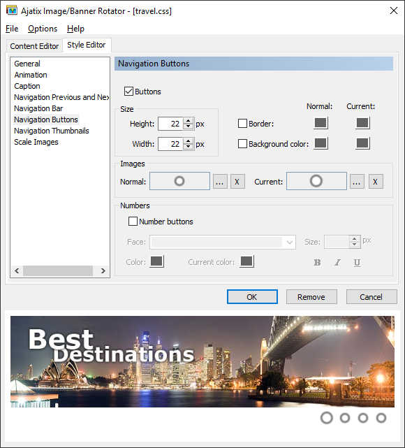 Click to view Image / Banner Rotator Dreamweaver Extension 1.2.3 screenshot